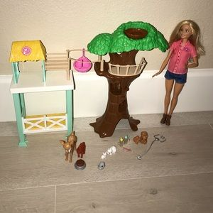 Barbie vet and animal rescue set